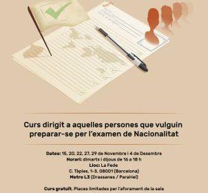 Cursos gratuitos de preparación al examen de nacionalidad en Barcelona