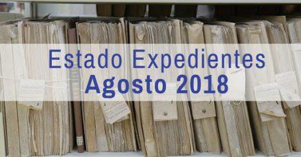Estado de los expedientes de Nacionalidad a Agosto de 2018