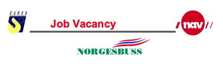 Oferta de empleo para conductores de autobús en Noruega