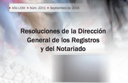Resoluciones de la DGRN. Octubre 2017