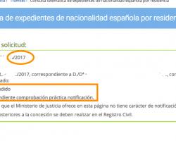 Nuevas resoluciones de nacionalidad española