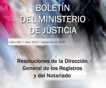 Resoluciones de la DGRN. Noviembre 2017