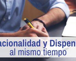 Solicitar nacionalidad española y tramitar dispensa al mismo tiempo