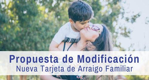 Propuesta de modificación del defensor del pueblo: nueva tarjeta de arraigo familiar