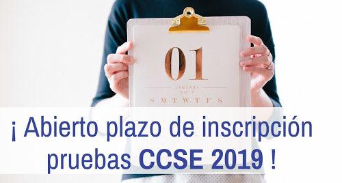 Ya está abierto el plazo de inscripción para las pruebas CCSE de 2019