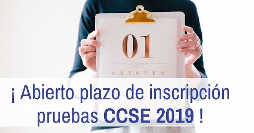 pruebas CCSE de 2019