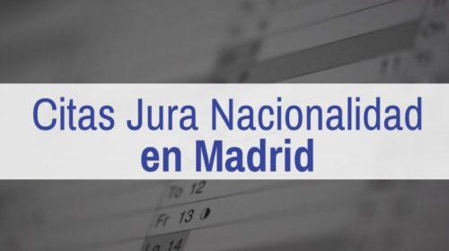 Cita para la Jura de Nacionalidad Española en Madrid