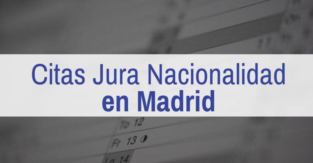 retraso en las citas para jura de nacionalidad en Madrid