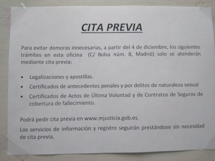 aviso cita previa c/bolsa madrid