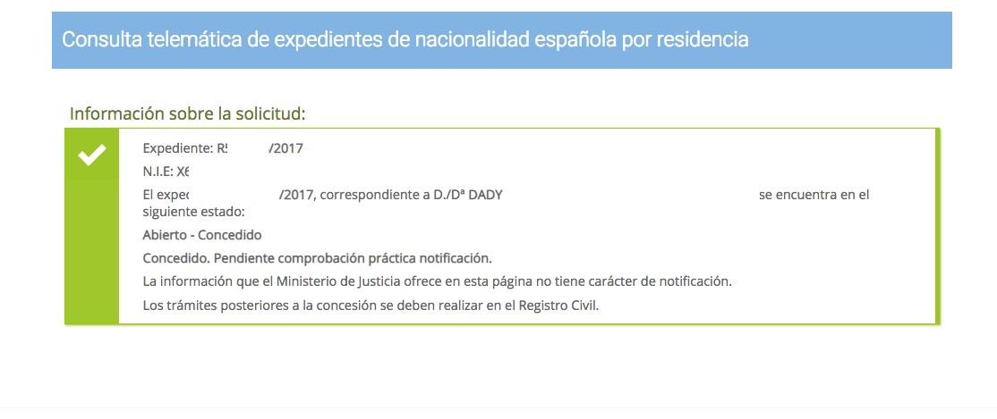 Concesiones de nacionalidad española