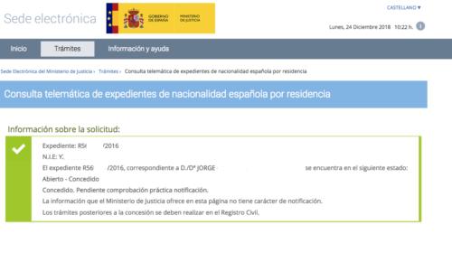 ¡Una nueva concesión de nacionalidad española ha llegado por Navidad!