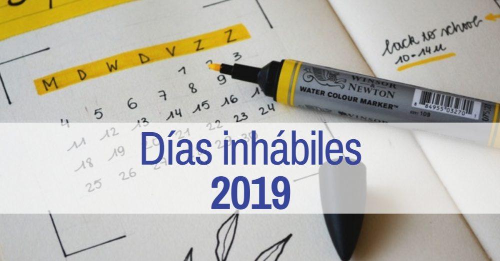 Días Inhábiles 2019