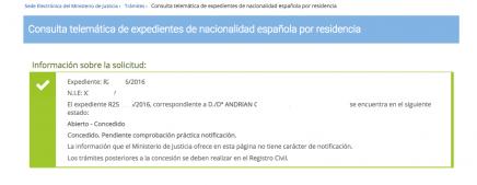 Las últimas concesiones de nacionalidad española en 2018