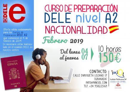 Curso DELE A2 en Granada