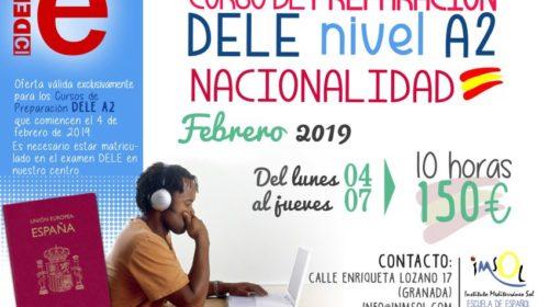 Curso de Preparación del DELE A2 en Febrero