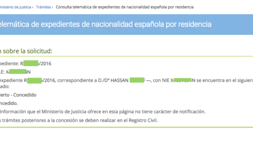 ¡8 nuevas concesiones de Nacionalidad!