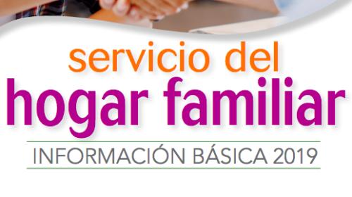 Servicio del hogar familiar para empleados/as de hogar 2019