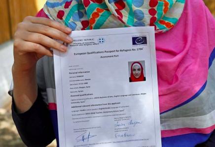 pasaporte refugiados con formacion