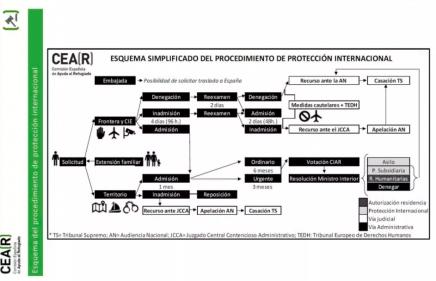 CEAR procedimiento protección internacional