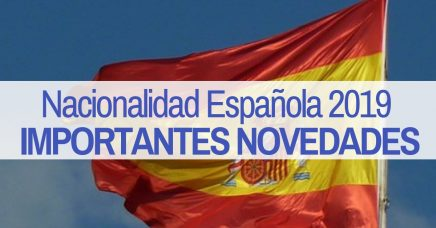 novedades nacionalidad española 2019