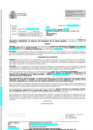 tarjeta comunitaria permanente - Tarjeta Familiar Comunitario UE Andrey