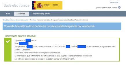 Concesiones de Nacionalidad Española A Masum