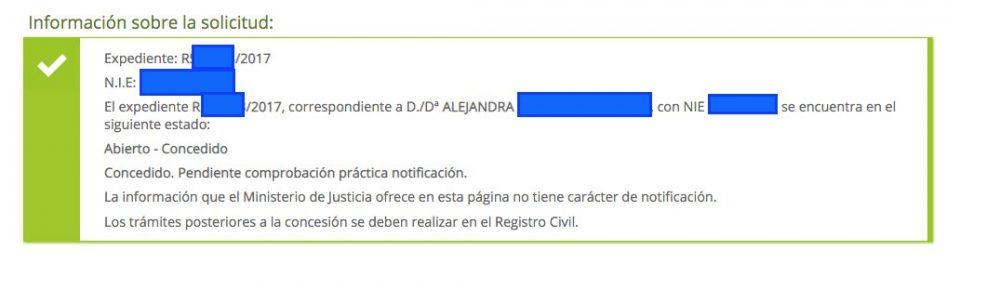 Resolución Alejandra contencioso