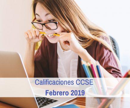 Calificaciones CCSE Febrero 2019