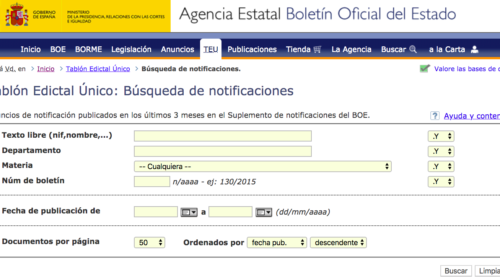 Protección de datos y cambios en el Tablón Edictal Único del BOE