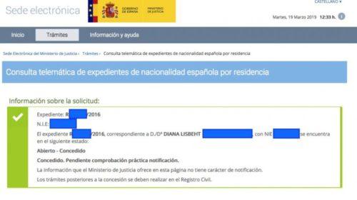 La mañana del 19 de marzo se salda con tres nuevas concesiones de nacionalidad española