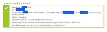 Concesiones de Nacionalidad Española Joanny Marleny
