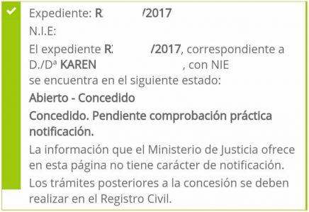 concesiones de nacionalidad: Karen
