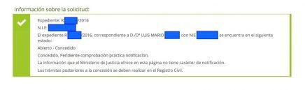 Concesiones de Nacionalidad Española Luis Mario