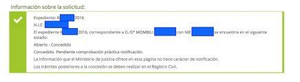 Concesiones de Nacionalidad Española Mombili