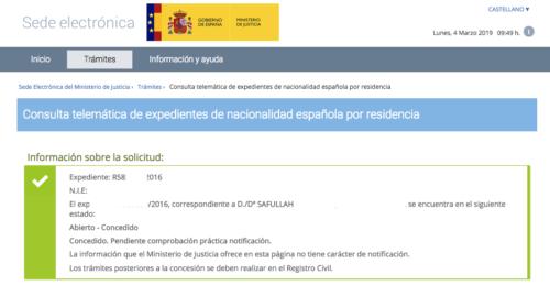Comenzamos mes con nuevas resoluciones de nacionalidad española