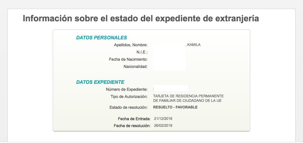 Concesión de Tarjeta de Familiar de Comunitario en Madrid