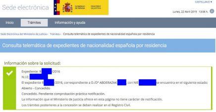 Concesiones de Nacionalidad Abderazak