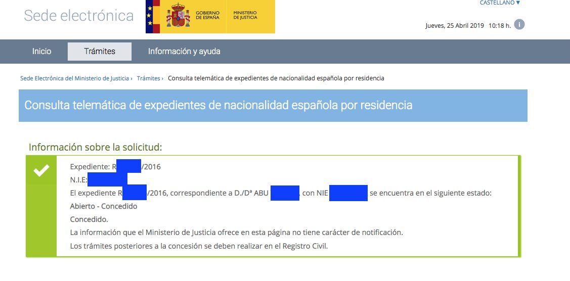 Concesiones de Nacionalidad Española Abu