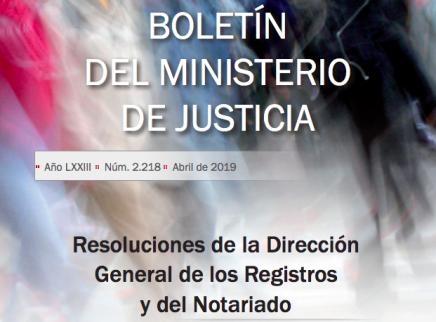 Resoluciones DGRN abril 2019