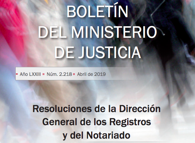 Resoluciones DGRN abril 2019