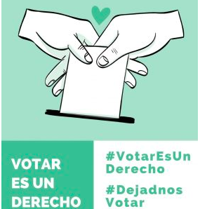 Cartel #TeCedoMiVoto: La campaña que lucha por el derecho a voto de los inmigrantes