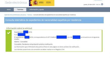 Concesiones de Nacionalidad Española Charles