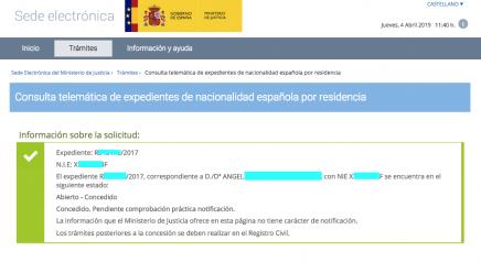Concesion Nacionalidad Española Angel