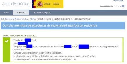 Concesiones de Nacionalidad Española Kamal