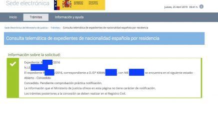 Concesiones de Nacionalidad Española Kiran