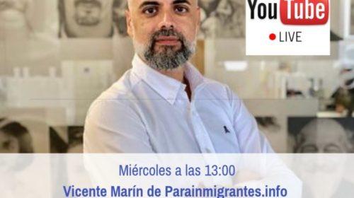 ¡Haz tus consultas de nacionalidad en directo a Vicente Marín este miércoles en YouTube!