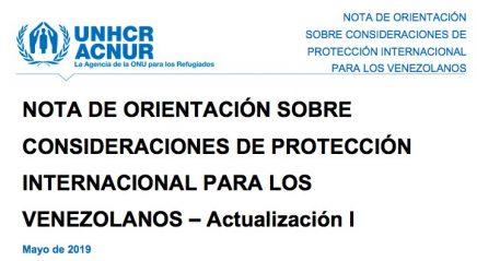 ACNUR Nota informativa venezolanos mayo 2019