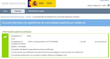 Concesiones de Nacionalidad Española Yiovana