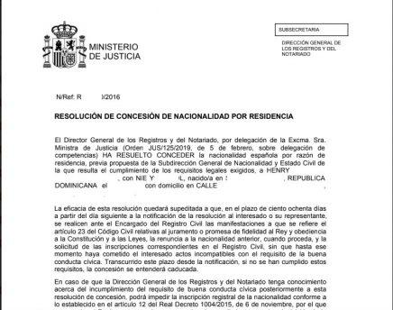 resolución de concesion por vía administrativa