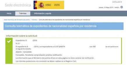 Concesiones de Nacionalidad Española JANETH